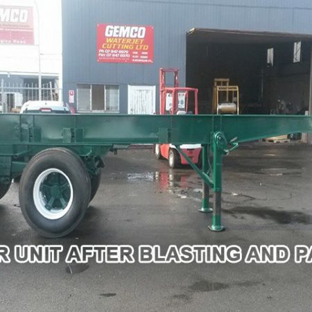 TRAILER UNIT AFTER BLASTING AND PAINTING